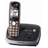Panasonic KX-TG6511B DECT 6.0 PLUS Expandable Digital Cordless Phone, 1 Handset, Black