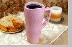 Made in the USA - Ceramic 20 oz. Pink Travel Mug