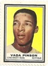1962 Topps Stamps (Baseball) Card# 128 Vada Pinson of the Cincinnati Reds ExMt Condition
