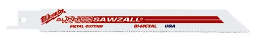 Milwaukee 48-01-6189 12-Inch, 18 Teeth per Inch, Super Sawzall Blades, 50-Pack