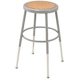 Steel Shop Stool w/Round hardwood Seat/18