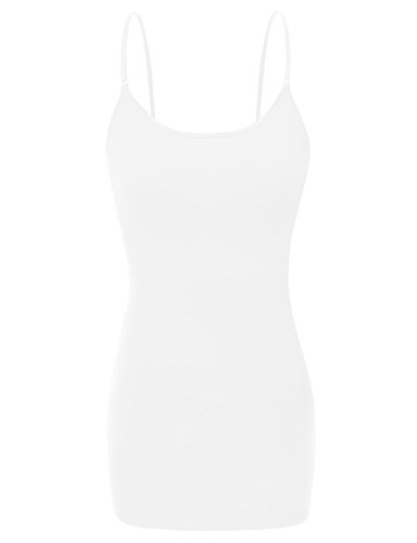 XT1002L Adjustable Spaghetti Strap Basic Long Cami Tunic Tank Top Plus Size (Length Camisole)