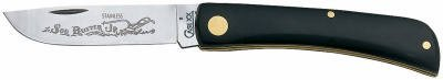 W R Case Sons Cutlery 00095 Sod Buster Jr Utility Knife With Etching Stainless Steel Black 3 5 8 In Blade