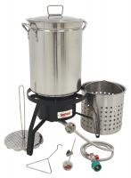 Bayou Classic Propane Turkey Fryer Kit - Burner and 32qt Stainless Steel Pot by Bayou Classic