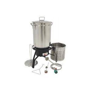 Bayou Classic Propane Turkey Fryer Kit – Burner and 32qt Stainless Steel Pot
