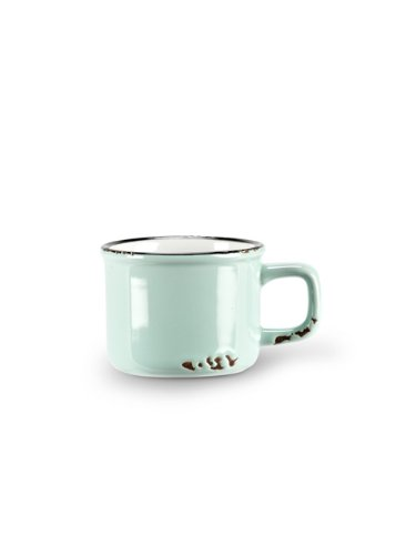 Abbott Collection Enamel Look Stoneware Espresso Cup, Green