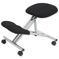 KNEELING Ergonomic Office Chair with Steel Frame on Casters (Charcoal) Trexus PS2144-Char
