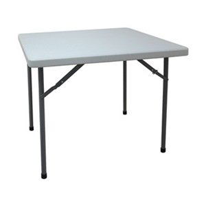 Industrial Grade 13V430 Table, Square, Blow Molded, 36x36, White