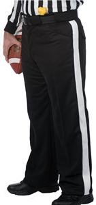 Dalco Athletic Football Official's Referee Pants Warm Weather Black With White Stripe (Football Referee Pants)