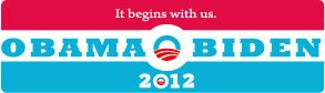 - Ten Pack BUMPER STICKERS: Vinyl of Obama/Biden 2012 Election WHOLESALE Priced