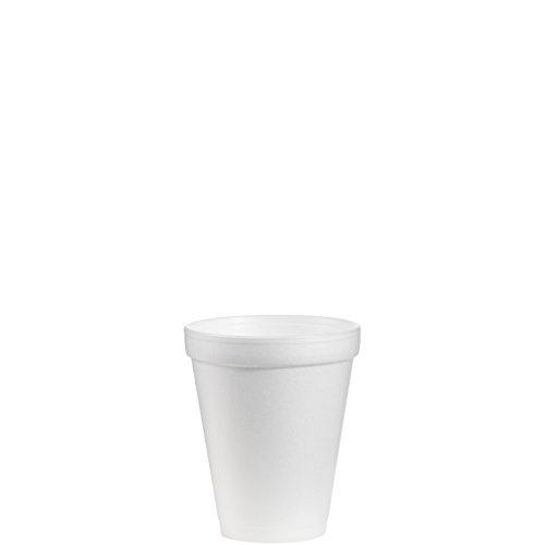 Dart 10J10 10 oz Foam Cup, 10 Series Lids (Case of 1000)
