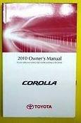 2010 Toyota Corolla Owners Manual