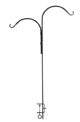 Panacea Products 46-Inch Forged Double Adjustable Deck Hook, Black