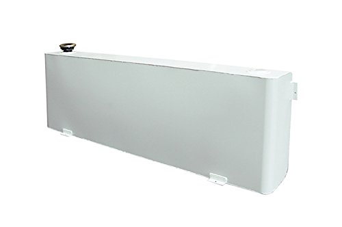 Dee Zee DZ91752S Long Rectangle Transfer Tank - White Steel (Truck Pickup Auxiliary Fuel Tank)