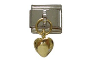 TUCCI CHARMS Dangle GOLD HEART Italian ()