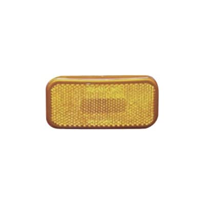 Fasteners Unlimited 003-59 12 V Amber Rectangular Light with Rounded Corners: Automotive