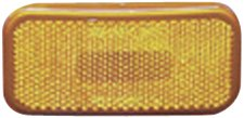 Fasteners Unlimited 003-59 12 V Amber Rectangular Light with Rounded Corners