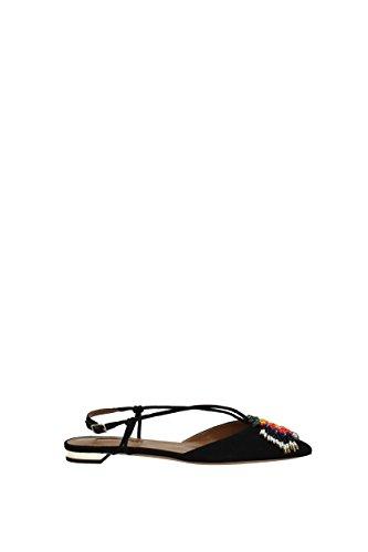 discount clearance AQUAZZURA Sandals Ananas Summer Women - Suede (ASSFLAS0SUE) UK Black cheap how much R99NQ2lG