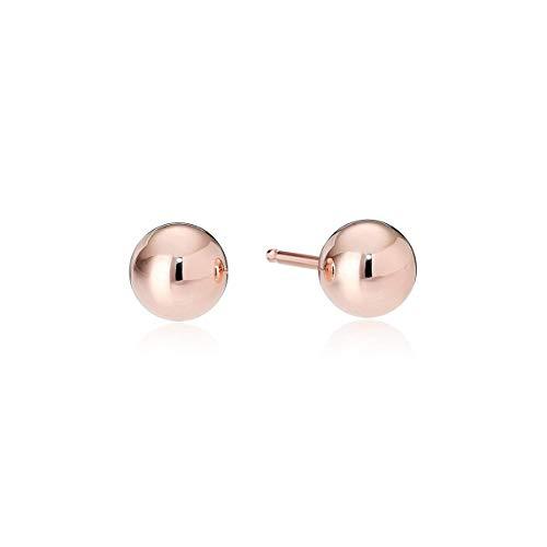 14k Rose Gold 4mm Ball Stud Earrings ()