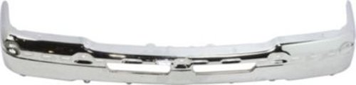 Crash Parts Plus Chrome Steel Front Bumper for Chevrolet Avalanche, Silverado - GM1002416