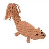 Jax and Bones Squirrel Rope Dog Toy Small, My Pet Supplies
