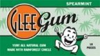 Glee Gum Chewing Gum Spearmint -- 18 Pieces Each / Pack of 12