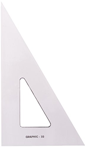 Alvin S1390-10 Academic Transparent Triangle (30/60 10'') by Alvin (Image #1)