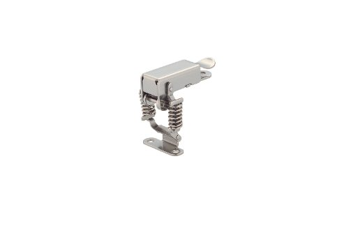 Stainless Steel 304 Spring Loaded Corner Fastener Latch with Molded Counter Plate, Polished Finish, Non Locking, 2 25/64