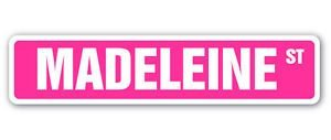 MADELEINE Street Sticker Sign name girls room door gift kid child boy girl wall entry - Sticker Graphic - Auto, Wall, Laptop, Cell, Truck Sticker for windows, cars, trucks, tool boxes, laptops