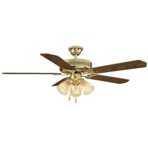 Hampton Bay 525 930 Ceiling Fan for Large Room Medium Oak and Rosewood Reversible -