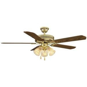 - Hampton Bay 525 930 Ceiling Fan for Large Room Medium Oak and Rosewood Reversible Blades