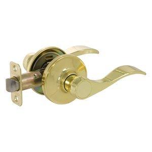 BE5 Callan Bennett Lever Lockset Satin Nickel, Entrance, Right