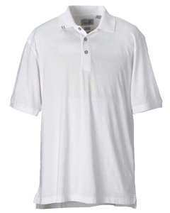Tonal Jersey Stripe Polo - Ashworth 2013 Men's EZ-Tech Jersey Textured Stripe Polo-Short Sleeve Polo-Medium-White