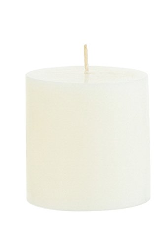 """3"""" x 3"""" Round Unscented Pillar Candle - Ivory, CASE OF 48"""