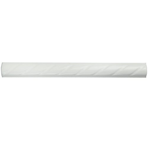 SomerTile WSP10WRP Cuerde Ceramic Pencil Wall Trim Tile, 1'' x 9.75'', White by SOMERTILE (Image #7)
