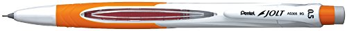 Pentel JOLT Automatic Pencil, 0.5mm, Orange Accents, Box of 12 (AS305F) (Jolt Pencil Pentel Automatic)