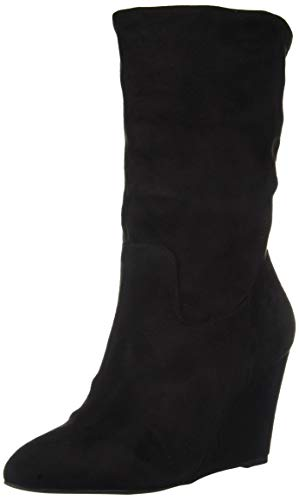 Athena Alexander Women's Nice Ankle Boot, Black Suede, 10 M US