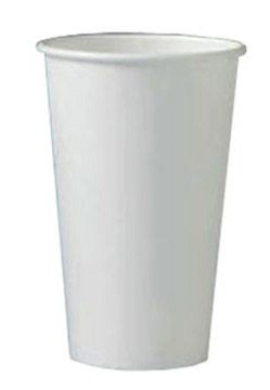 Dopaco 4725 Squat Paper Hot Cup, 10 oz. Capacity, White (Case of 1,000)