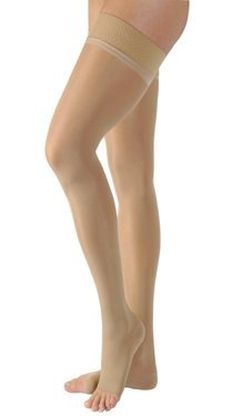BSN Medical/Jobst 119778 Ultra Sheer Compression Stocking, Thigh High, 20-30 mmHg, Open Toe, Natural, Large, Pair