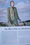 Advertisement for Airlines of the US: Mrs. Miniver Writes an Advertisement