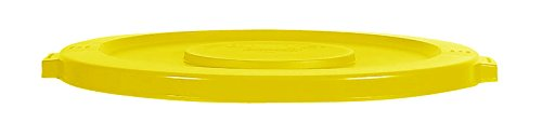 Rubbermaid Commercial FG263100YEL BRUTE Heavy-Duty Round Waste/Utility Container, 32-gallon Lid, Yellow