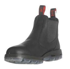 REDBACK BOOTS USA RDBUBBK9.5 SZ 9.5 Black Slip-On Full Grain Leather Boot (Best Australian Made Work Boots)