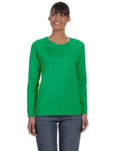 Gildan womens Heavy Cotton 5.3 oz. Missy Fit Long-Sleeve T-Shirt(G540L)-IRISH GREEN-M