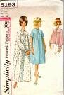Vintage Simplicity 5193 Nightgown and Bed-jacket Sewing Pattern Check Offers for Size - Vintage Nightgown Patterns
