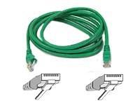Belkin 3ft  CAT5E Green UTP Patch Cord Snagless ()