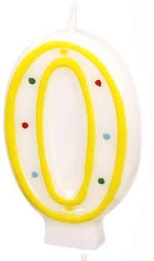 Price comparison product image TEXTIMO Number Birthday Candle 0 - 9 (Assorted Colours ) 0
