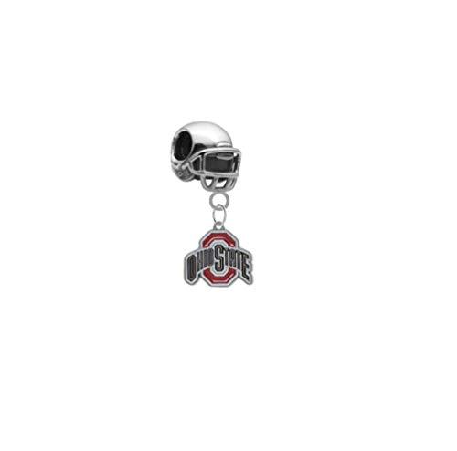 Ohio State Buckeyes Football Helmet 3D Universal European Bracelet Charm