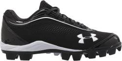 Under Armour YOUTH Leadoff IV Low Jr Black & White Baseball Shoes Cleats (11K)