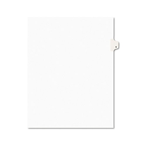 - Avery Individual Legal Exhibit Dividers, Avery Style, 6, Side Tab, 8.5 x 11 inches, Pack of 25 (11916)