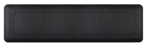 Smart Step Home Collection Fleur-de-LYS Design Mat, 72-Inch by 20-Inch, Black